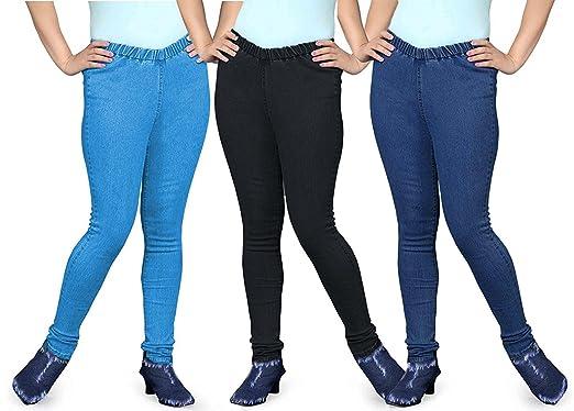 e1202f4e716 Trusha Dresses Pack of 3 Denium Lycra Jeggings: Amazon.in: Clothing ...
