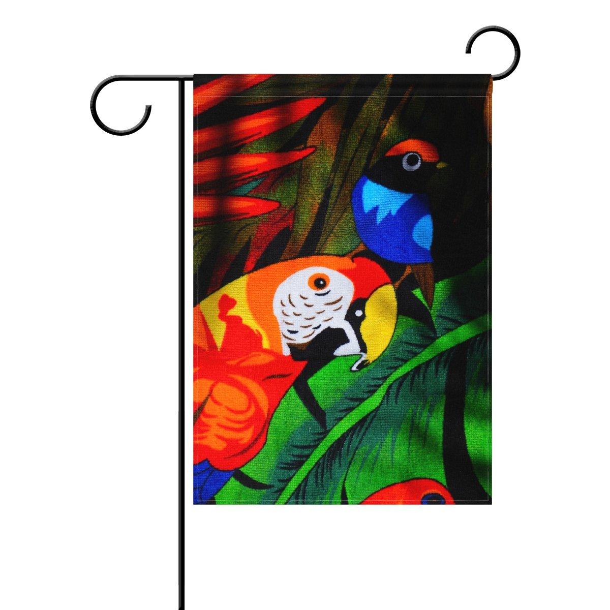 ALAZA Loro Doble decorativo Sided indicador jardín 12 x 18 18 18 pulgadas 208f7e