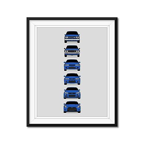 Nissan Skyline GT-R Inspired Poster Print Wall Art Decor Handmade R33 CUSTOMIZABLE COLOR