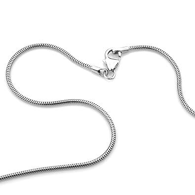 94aab8905424 Cadena de serpiente 925 rodio plateado plata Ancho 1