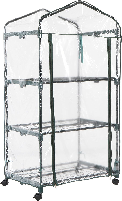 Jago Invernadero de Jardín | 68.5/49.5/134 cm, 0.45 m³ de Volumen | Invernadero Compacto, Invernadero con Cubierta, Invernadero Plástico: Amazon.es: Jardín