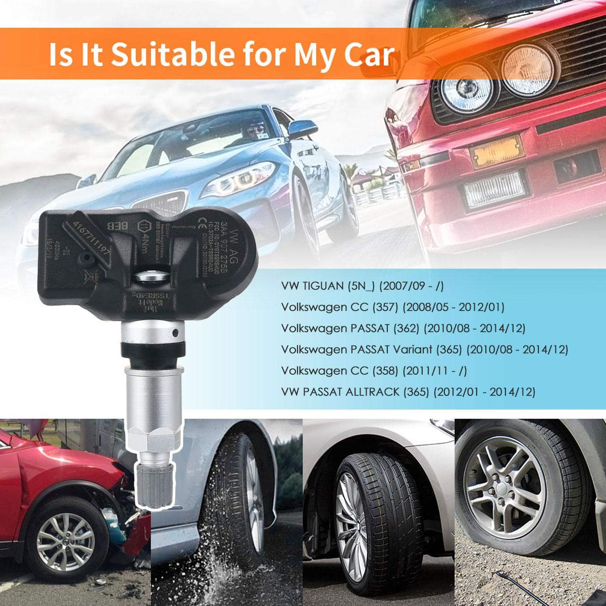 Amazon com: Moshbu VW TPMS Sensors, Tire Pressure Monitoring