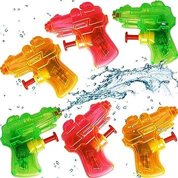German Trendseller® - 3 x Mini Pistola de Agua┃Fiesta de Agua┃ Fiestas Infantiles┃ Idea de Regalo┃piñata┃cumpleaños de niños┃ 3 Unidades