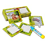 Water Colouring Doodle Drawing Board,On the Go Water Wow! BBLIKE 16 Pictures and Magic Water Pen, Painting Puzzles Toy for Kids