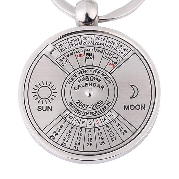 Amazon.com: walfront Calendario llavero, 50 año Calendario ...