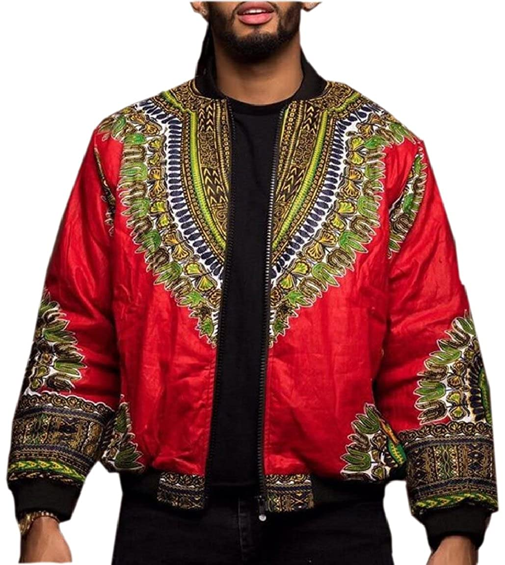 pujingge-CA Jacket Coat African Print Dashiki Mens Long Sleeve Outwear