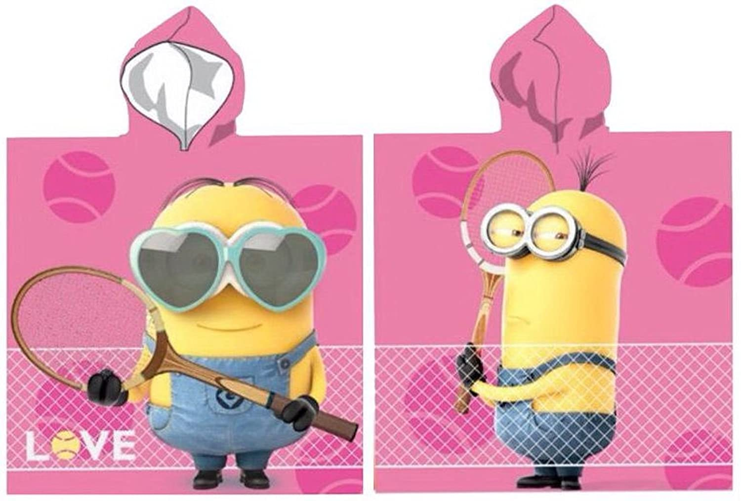 Girls Minions Hooded Poncho Towel Despicable Me