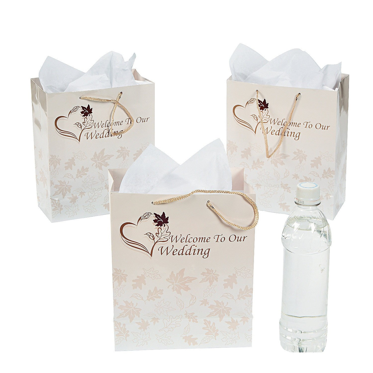 Amazon.com: Medium Fall Welcome to Our Wedding Gift Bags/One Dozen ...