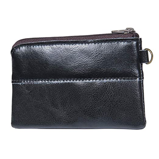 feca7ae573bb Fmeida Mens Leather Coin Purse Pouch Slim Change Credit Card Holder Wallet