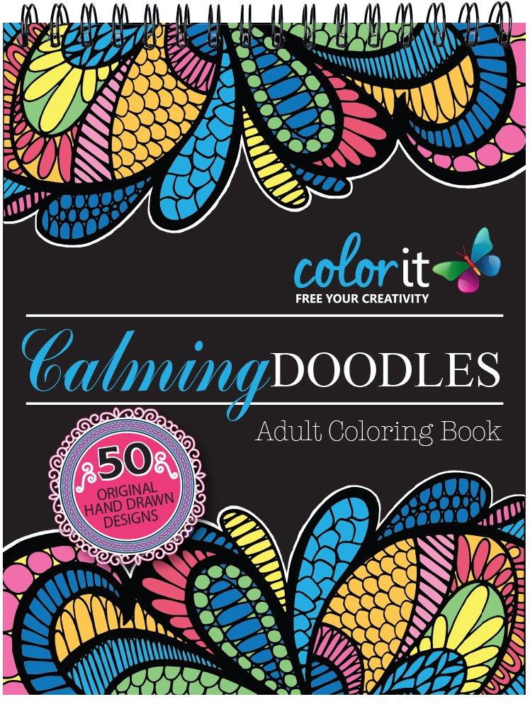 Amazon.com: Calming Doodles Adult Coloring Book - Features ...