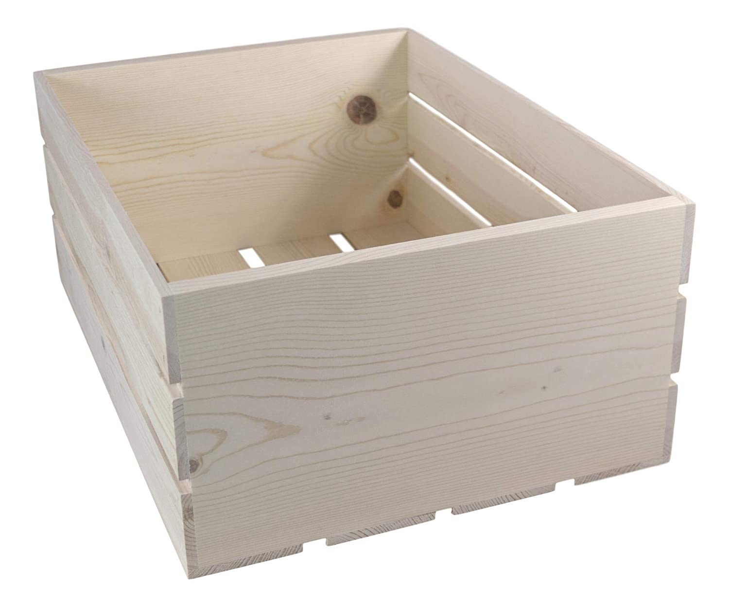 Wooden Crate, 22×16.25×9.25 Inches Outside Dimensions