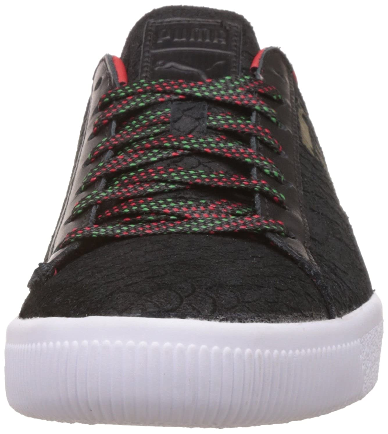 5fcd1964f24d14 Puma Men s Clyde GCC Black and High Risk Red Sneakers - 10 UK India (44.5  EU)  Buy Online at Low Prices in India - Amazon.in