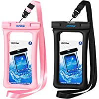 [2-Pack] Mpow Floatable Waterproof Case, Waterproof Cell Phone Dry Bag for iPhone Xs/XS Max/XR/X, iPhone 8/8 Plus/7/7 Plus/6/6s, Samsung Galaxy S9/S8/S7 Google Pixel and All Devices Up to 6.5 Inches