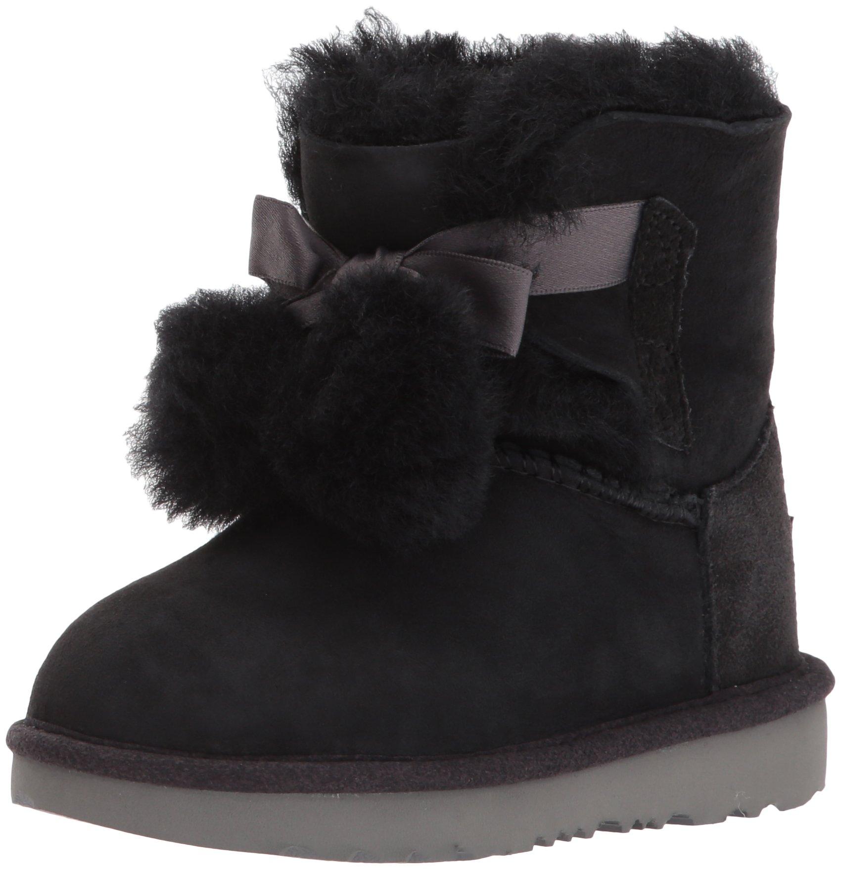 UGG Girls T Gita Pull-on Boot, Black, 7 M US Toddler