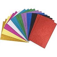 ewtshop® 20 vellen glitter schuimrubber in 10 kleuren, voor knutselwerk, formaat DIN A4