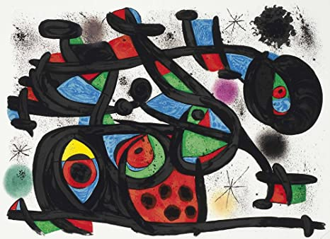 Amazon Com Berkin Arts Joan Miro Giclee Canvas Print Paintings Poster Reproduction Le Rapt From Allegro Vivace Posters Prints