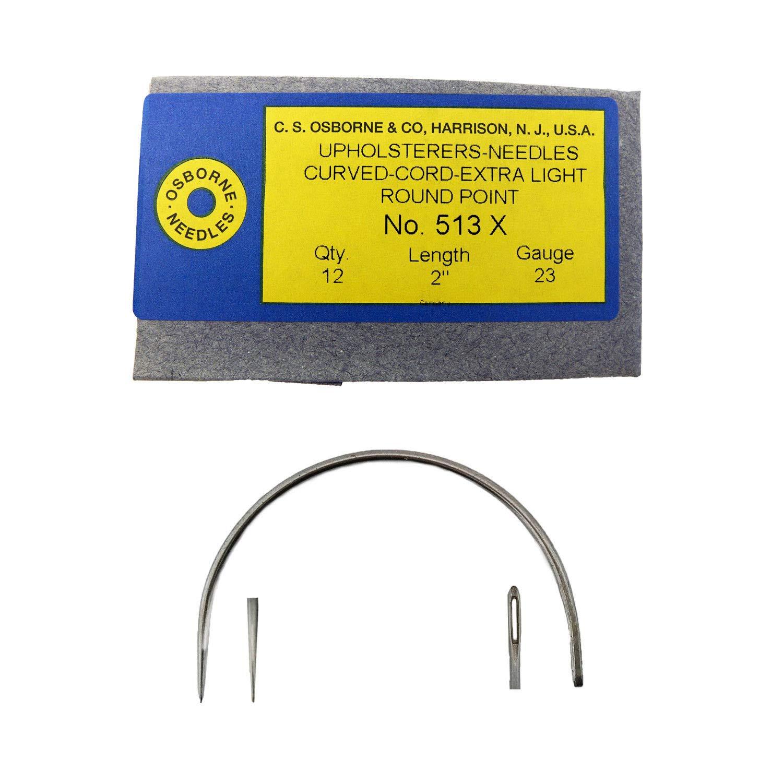 C.S. Osborne 12/Pk. Curved Cord Extra Light Needles #513X Size 2 C.S. Osborne & Co.