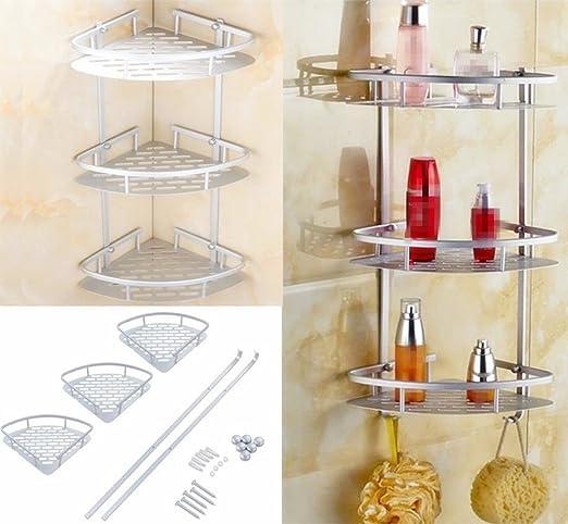 yosoo baño habitaciones 3 pisos aluminio fächerförmig – Estantería ...