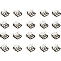 20 Conectores USB Hembra Tipo A Para Soldar