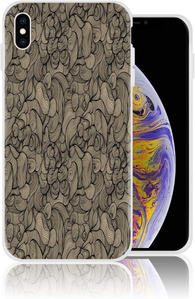Amazon Com Silicone Case For Iphone X Abstract Curve Wallpaper Phone Case Personalized Design Printed Shockproof Full Body Protection Anti Scratch Drop Protection Cover