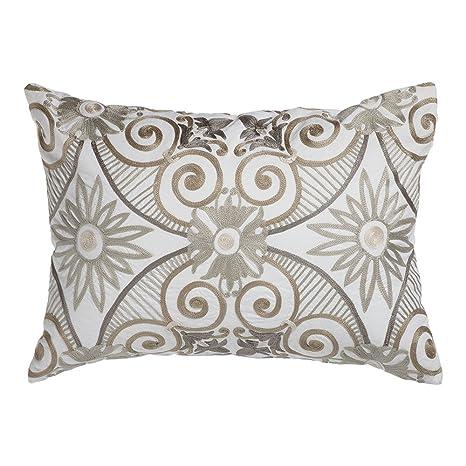 Amazon.com: Ethan Allen bordado para azulejos almohada: Home ...