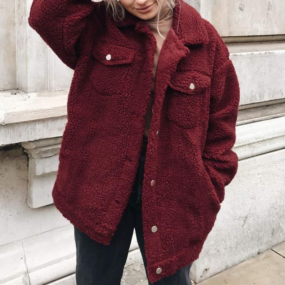 GridNN Pullover Blouse,Women Button Long Sleeve Open Front Jacket Coat Outerwear