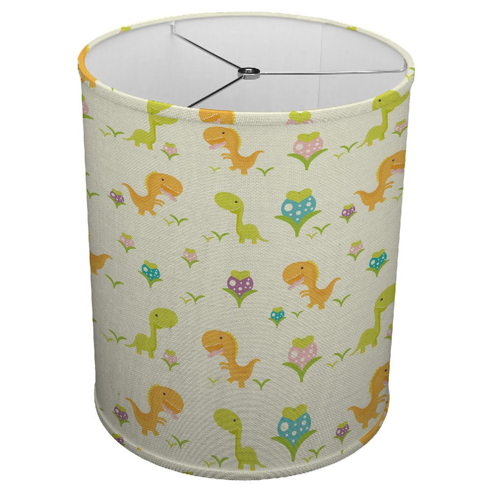 Hardback Linen Drum Cylinder Lamp Shade 8'' x 8'' x 8'' Spider Construction [ Dinosaur Children Art ]