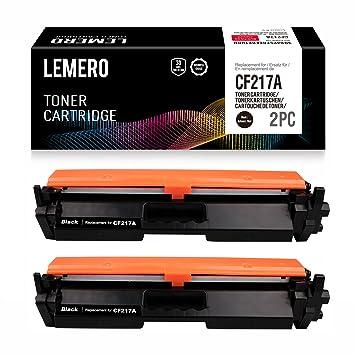 2 LEMERO Compatible HP CF217A 17A Cartuchos de Toner [con Chip] para Laserjet Pro M102A M102W HP Laserjet Pro MFP M130a M130nw M130fn M130fw ...