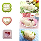 [3 Pieces] iMoreGro Sandwich Cutter, DIY Cookie Cutter Sandwich Toast Bread Mold Maker