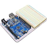JBtek® Acrylic Transparent Arduino UNO R3 Base Plate & Terminal Optimizer Breadboard