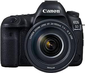 Câmera DSLR Canon EOS 5D Mark IV com lente 24-105mm f / 4L II