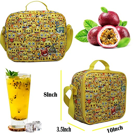 Amazon.com: Lunch Bag-Toddler Insulated and Water-Resistant Lunch Box Tote bag-Emoji: WhosePet