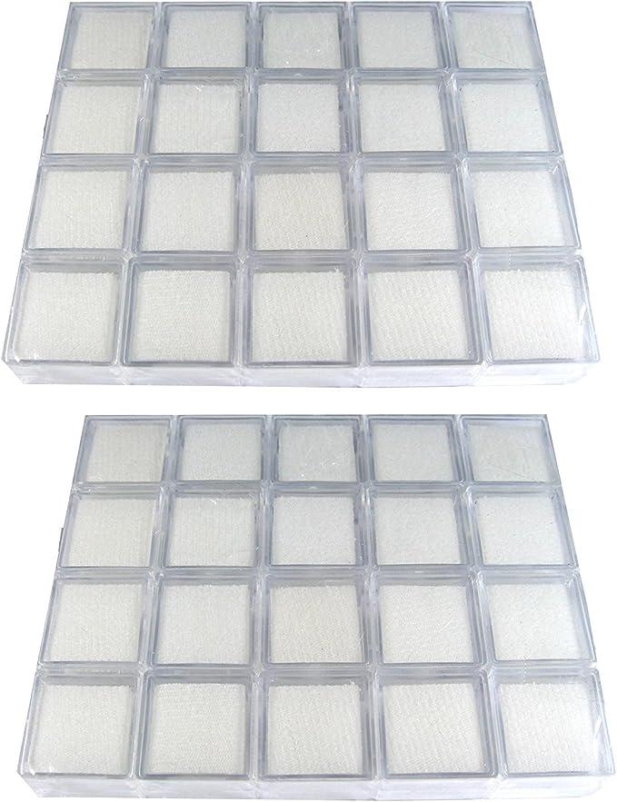 Jewelry Beads 60 Pcs Gem Display Plastic Box Storage for Gemstones Diamond