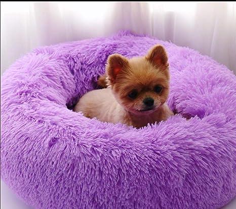 Lamzoom Cama para Mascotas Deluxe para Gatos y Perros pequeños y medianos con cojín Suave Redondo. Pasa el ...