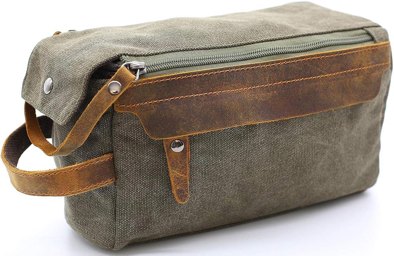 RTS men/'s shaving kit Leather dopp kit toiletry bag travel Bag