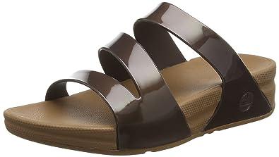 1cd8f9d19c9b FitFlop Womens Superjelly Twist Open Toe Slide Shoes