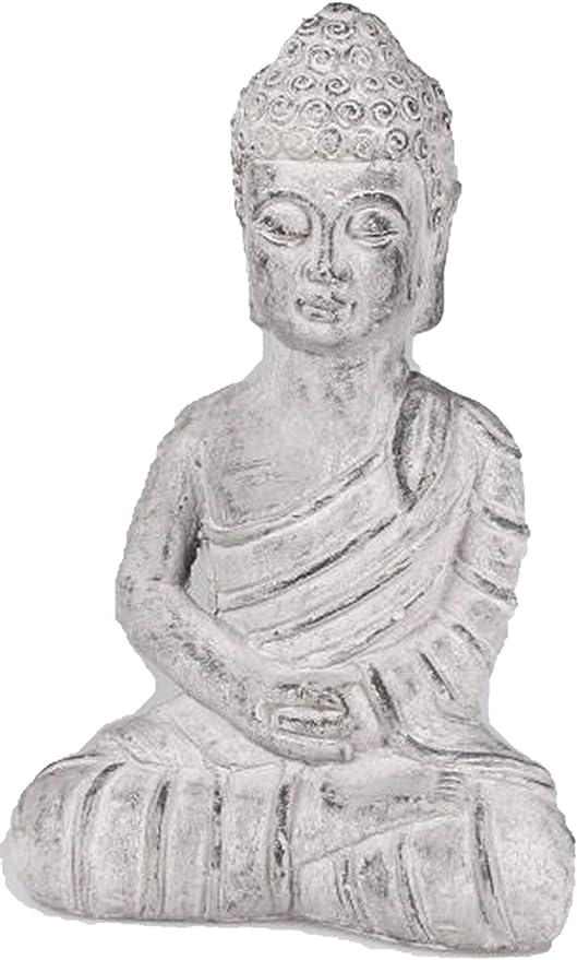 dekojohnson – Figura Decorativa de Buda para jardín, decoración de jardín, Color Piedra Antigua, 28 cm, Incluye Tarjeta de Regalo: Amazon.es: Jardín