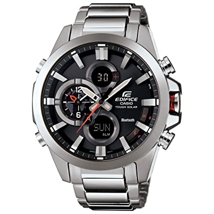 69e290ada Image Unavailable. Image not available for. Colour: Men's Casio Edifice  Tough Solar Stainless Steel Watch