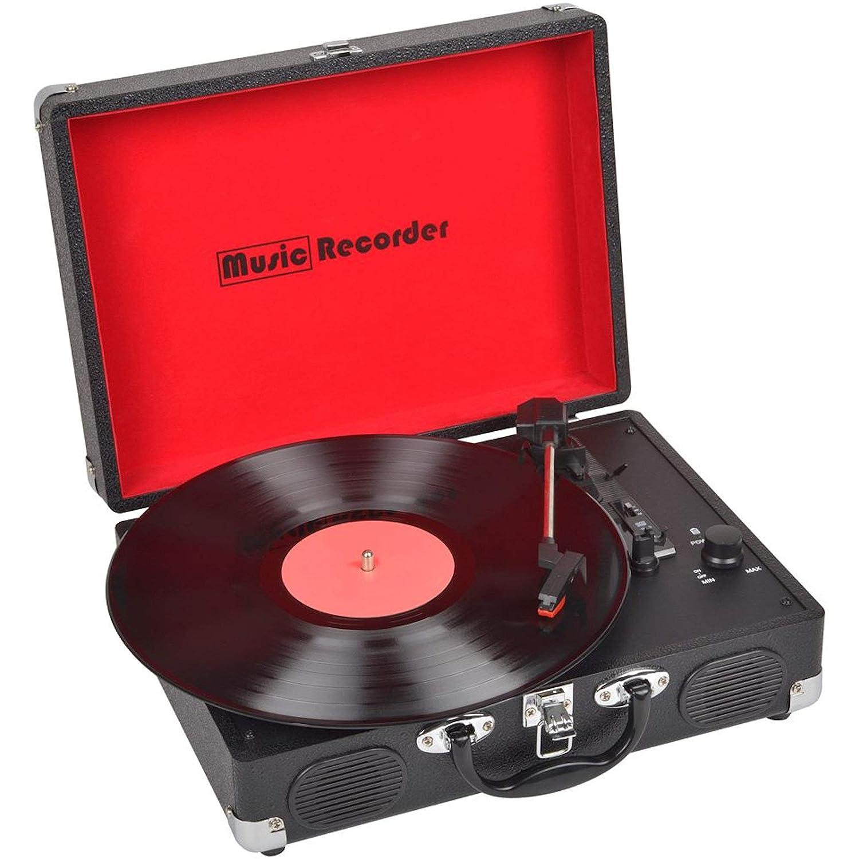【LE STUDIO】ミュージック レコーダー ターンテーブル アナログレコード プレーヤー   B01DRPP6U8