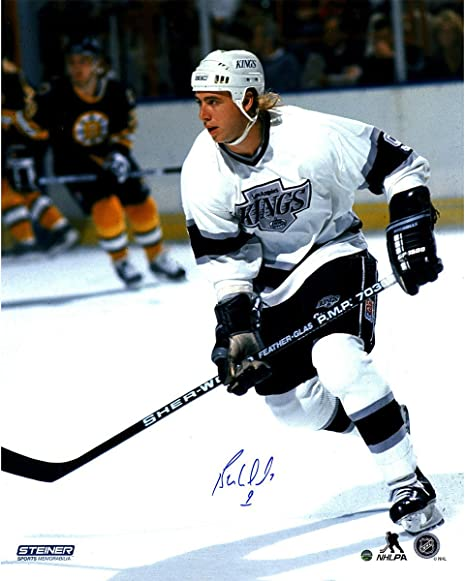 save off 65f93 28c7b Bernie Nicholls Signed LA Kings 16x20 Photo at Amazon's ...