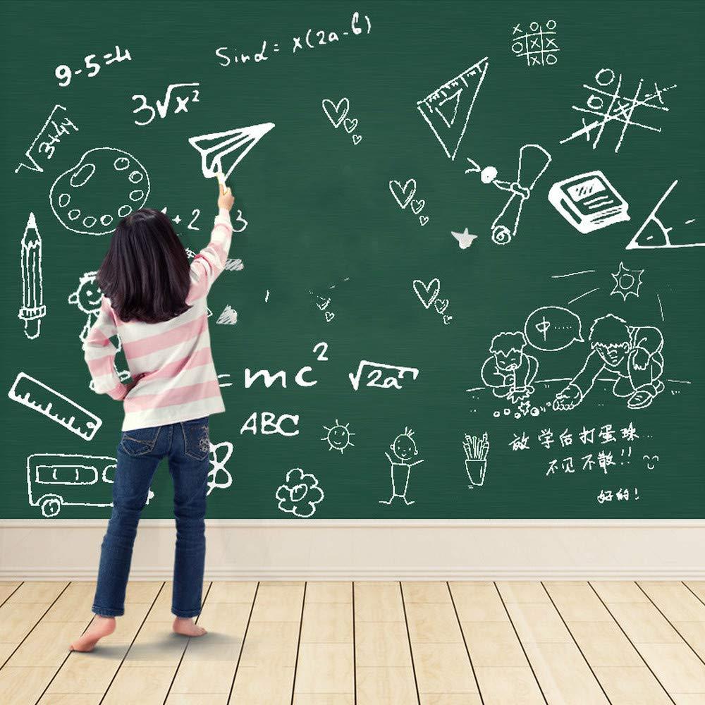 MINIDF - Lavagna Magnetica da Parete per Bambini a casa, Adesivo per Lavagna Bianca, Parete Adesiva per Insegnante, Spessore scrivibile, Verde, 80x100
