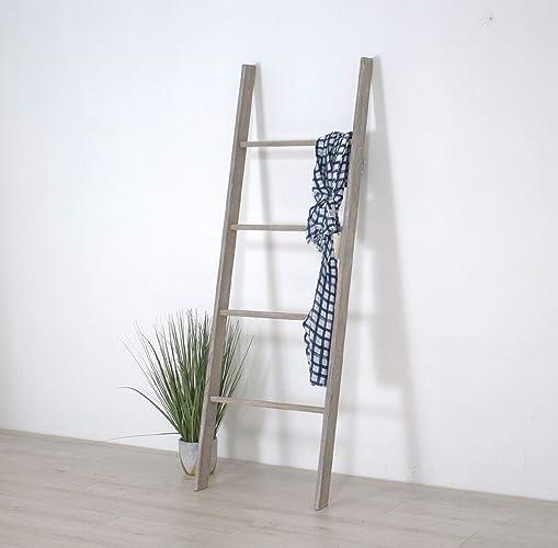 buy online d4e03 4a6ae Amazon.com: Wooden Decorative Ladder Shelf, Blanket Ladder ...