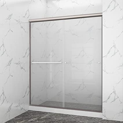 Sunny Shower B020 6072cb Frameless Glass Sliding Shower Door Clear
