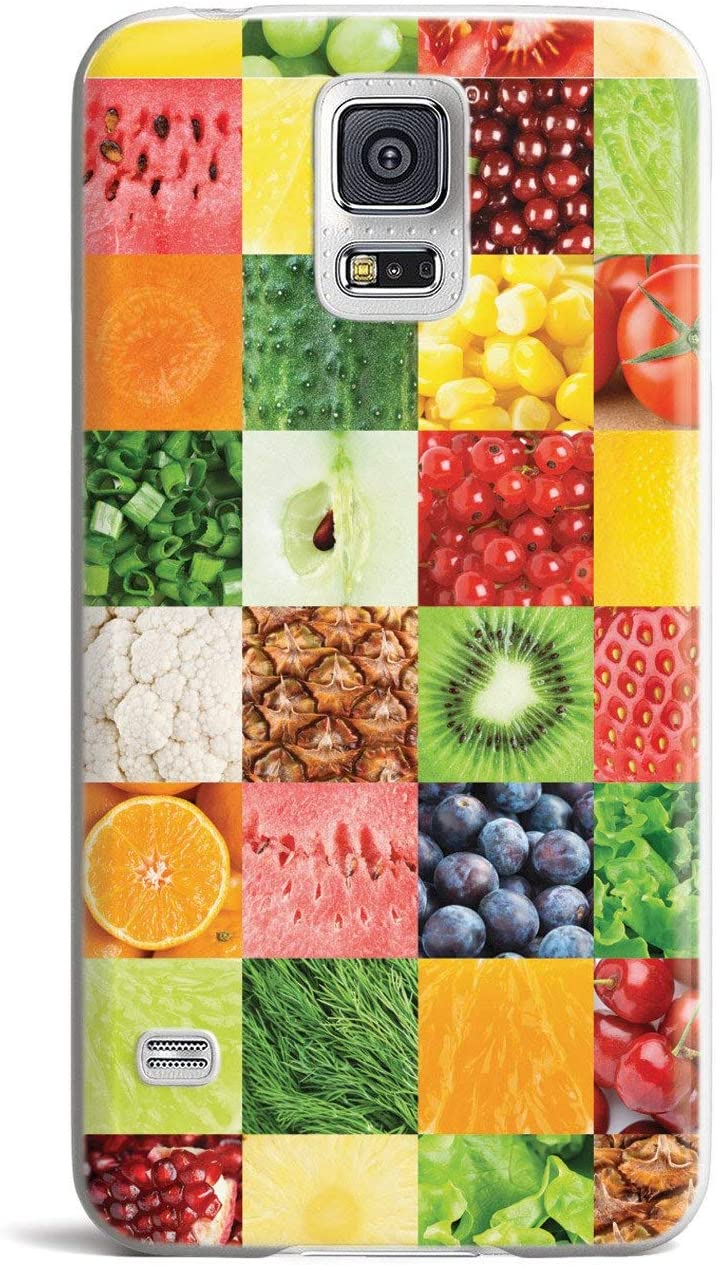 Inspired Cases - 3D Textured Galaxy S5 Case - Rubber Bumper Cover - Protective Phone Case for Samsung Galaxy S5 - Healthy Foods Quilt Pattern 2
