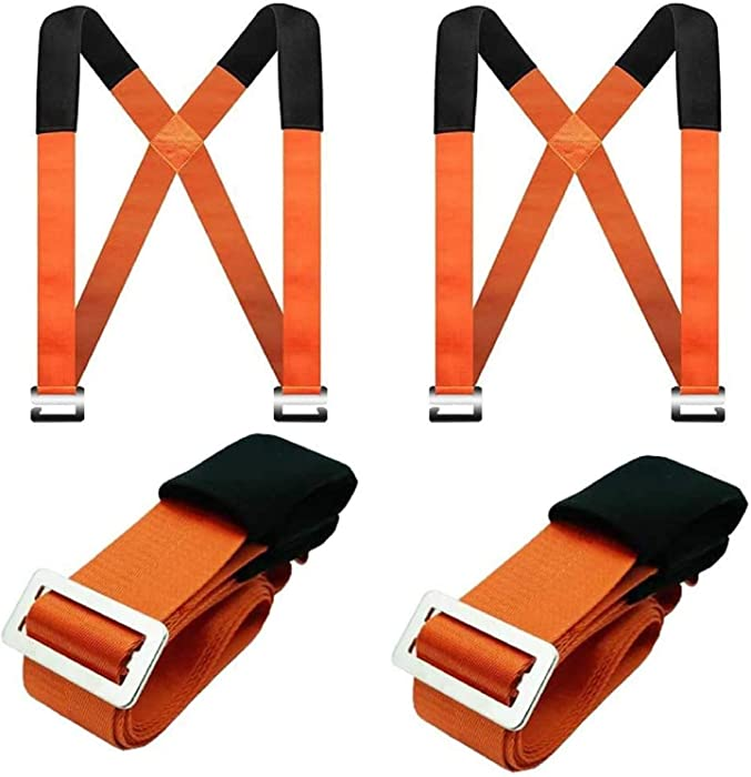Lifting Moving Straps, Adjustable 2-Person Carrying Belt Max Load 800 Pound Easy Carry Furniture, Appliances, Mattresses, or Any Heavy Object (Width 5CM)