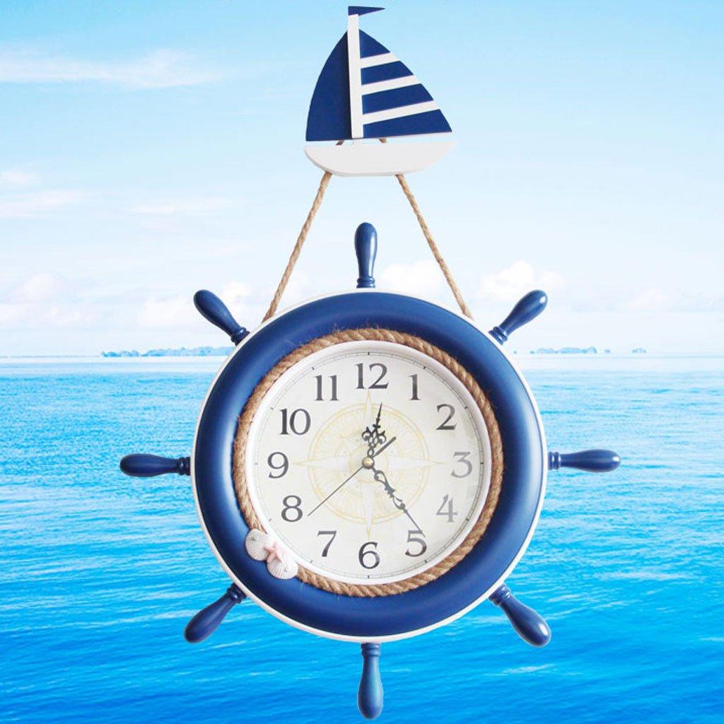 Boot Ruder Hanging Clock Wohnzimmer Hanging Bell Kinderzimmer Silence Clock Creative Bar European Style Anchor Bell
