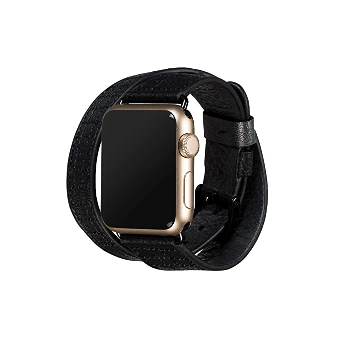 newest 3b2c6 d0ceb Amazon.com: Sena Isa Double Leather Watch Band for Apple Watch ...