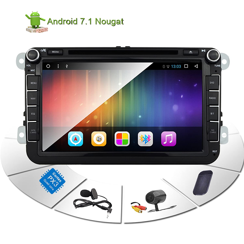Car Stereo Touch Screen Bluetooth GPS DVD Double Din in Dash Sat Navigation  Vehicle Head Unit for VW Volkswagen Jetta Golf Passat Tiguan T5 VW Skoda