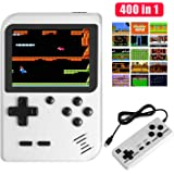 JAMSWALL Handheld Game Console, 400 Classical FC Games 2.8-Inch Screen 800mAh Rechargeable Battery Portable Retro Video Game Console Support for Connecting TV and Two Players(White)
