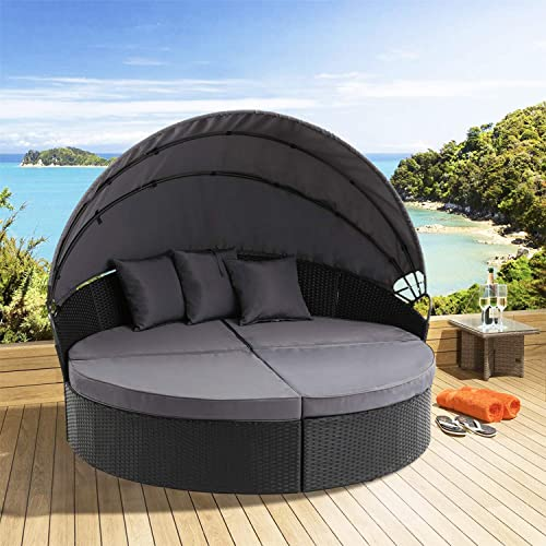 Oakmont Patio Furniture Outdoor Daybed Round Sofa